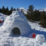 construction d'igloo en Ariège